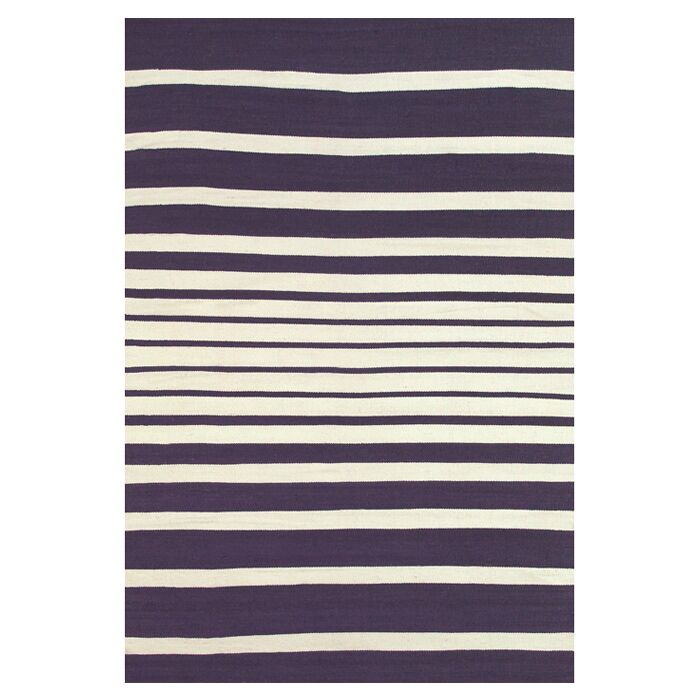 Bailey Hand Woven Purple/White Area Rug Rug Size: Rectangle 8' x 11'