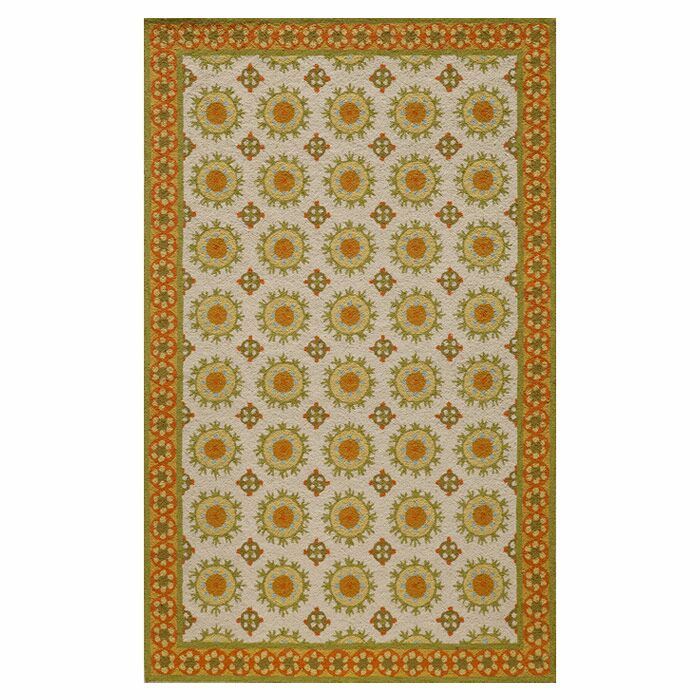 Marlar Hand-Hooked Multicolor Area Rug Size: Rectangle 8' x 10'