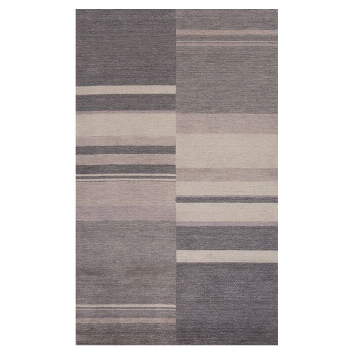 Mangum Hand-Loomed Charcoal Area Rug Size: Rectangle 5' x 8'