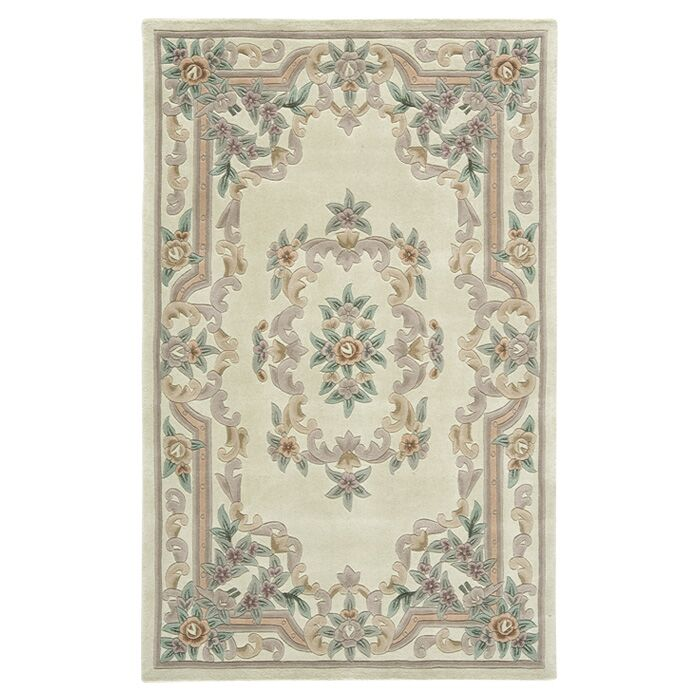 Handmade Ivory Area Rug Rug Size: Rectangle 4' x 6'