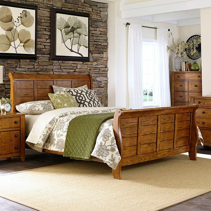 Tahoe Sleigh Bed Size: Queen