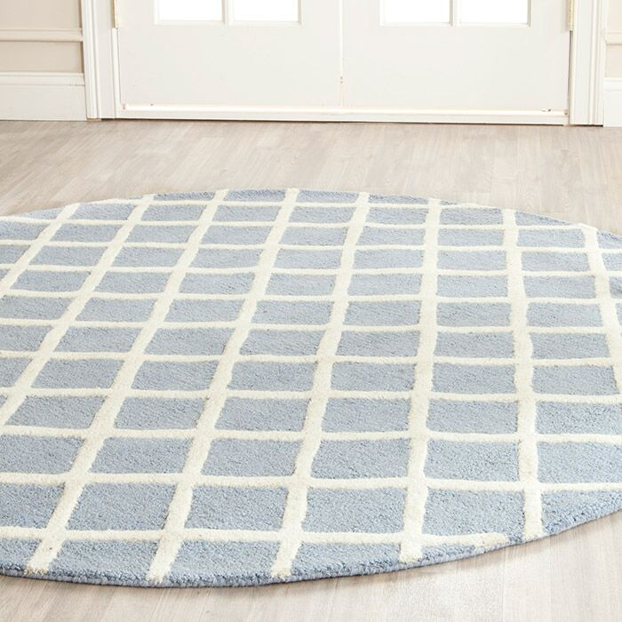 Martins Hand-Tufted Wool Gray/Ivory Area Rug Rug Size: Rectangle 6' x 6' x 6'