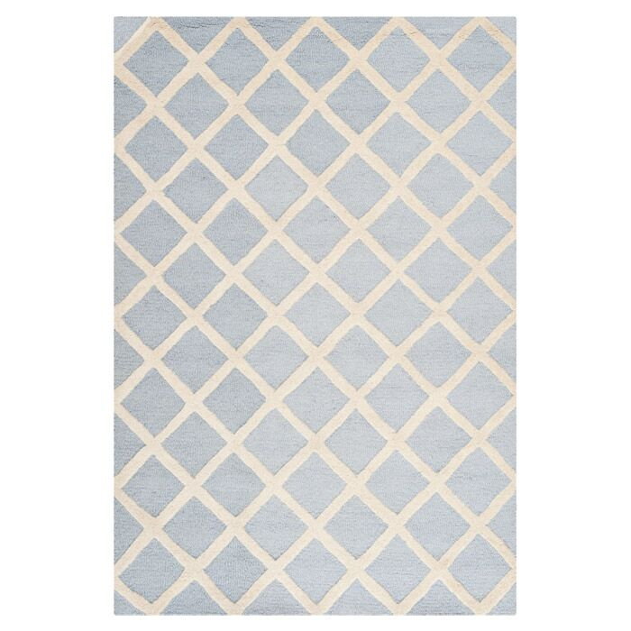 Martins Hand-Tufted Wool Gray/Ivory Area Rug Rug Size: Rectangle 3' x 5'