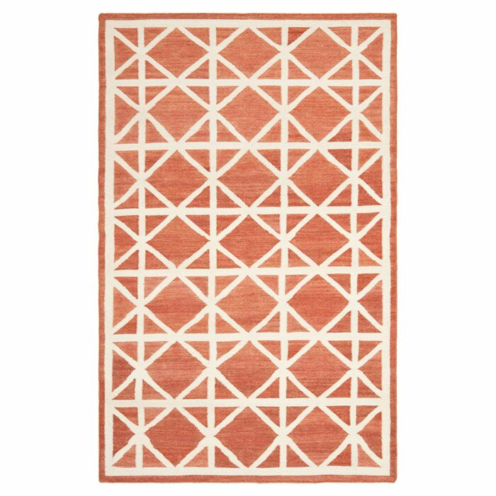 Dhurries Tan/Ivory Area Rug Rug Size: Rectangle 8' x 10'