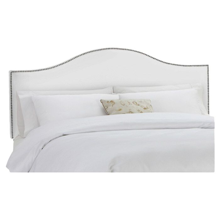 Catelynn Upholstered Headboard Size: Twin, Upholstery: Fabric - White