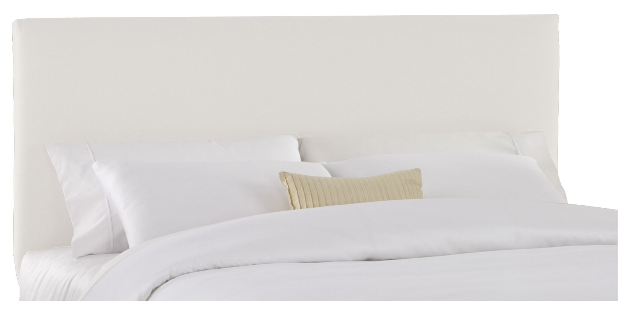 Slip Cover Upholstered Panel Headboard Size: King, Color: Off-White