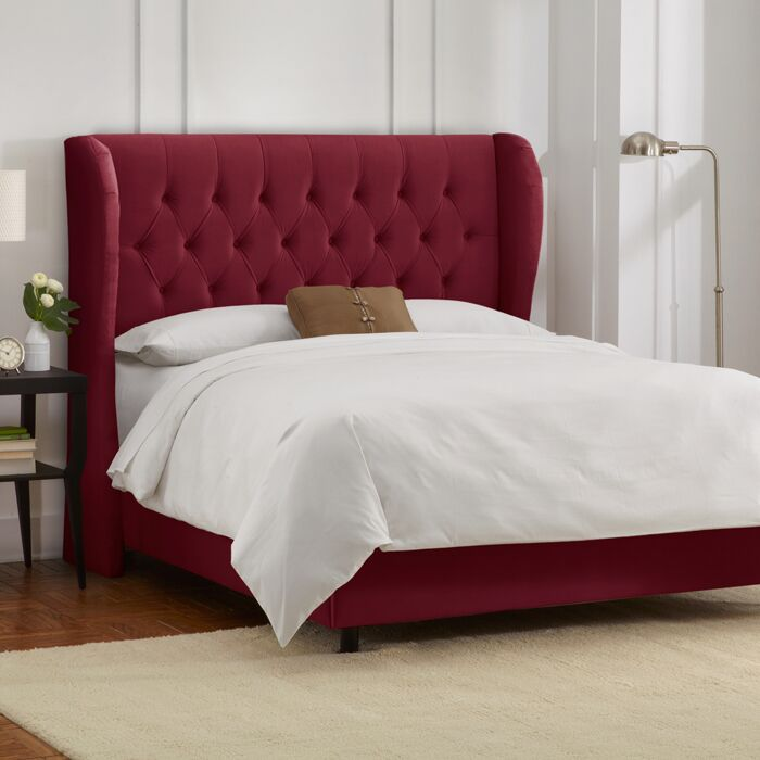 Sainte-Chappelle Tufted Upholstered Panel Bed Size: California King