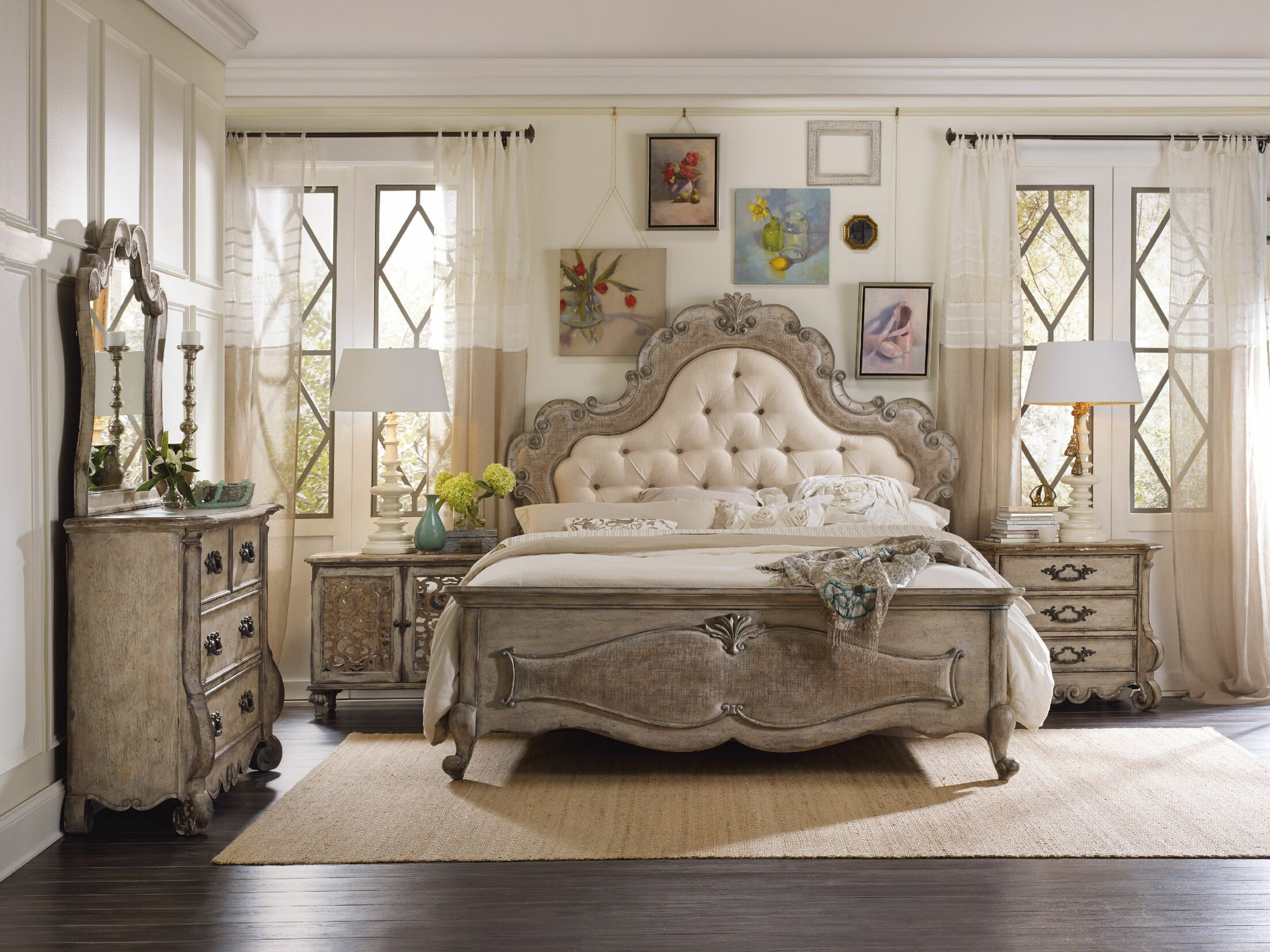 Chatelet Upholstered Panel Headboard Size: King