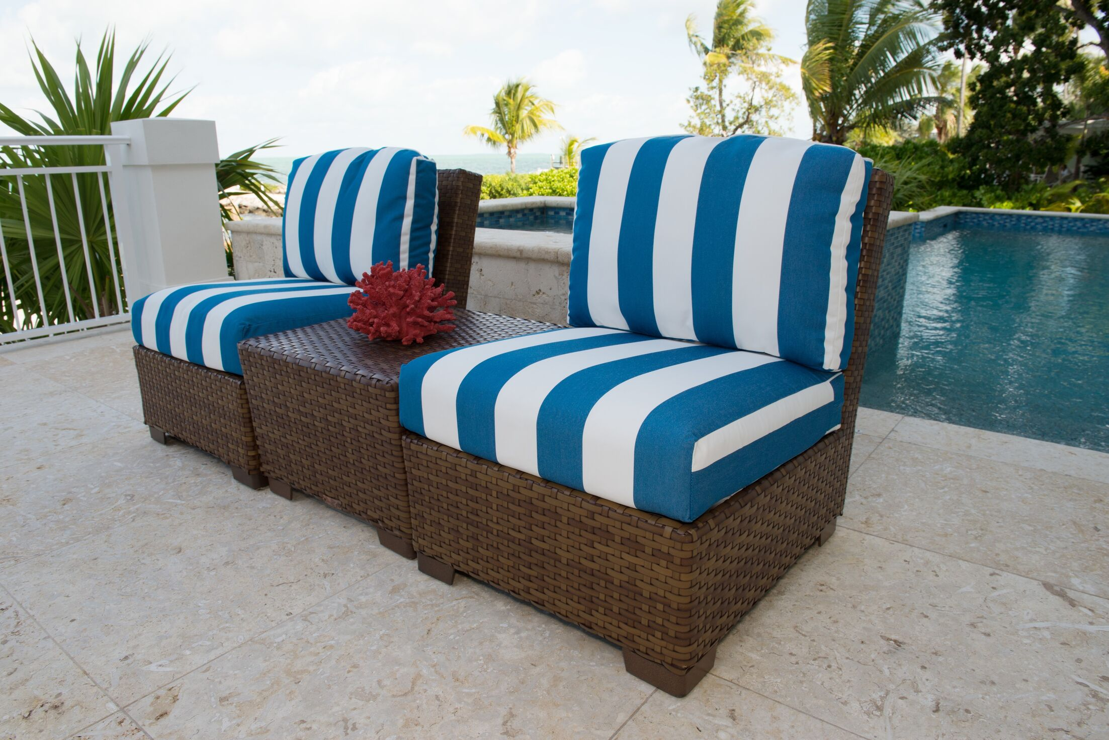 Panama Jack 3 Piece Conversation Set with Cushions