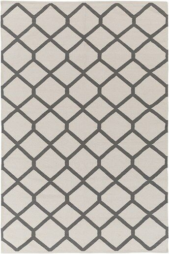 Murphree Ivory & Gray Area Rug Rug Size: Rectangle 8' x 10'