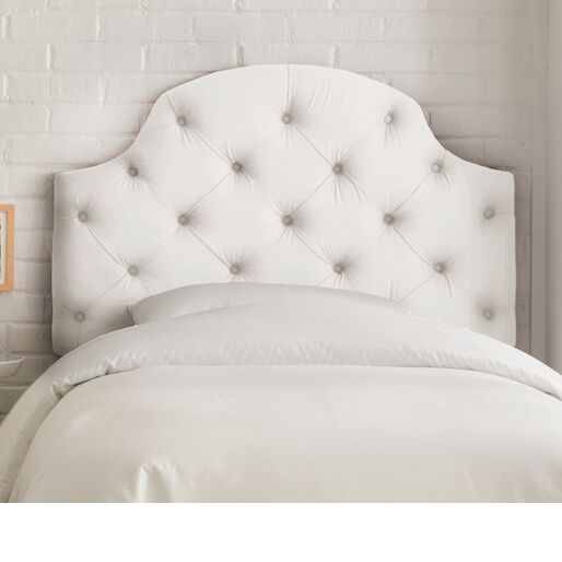 Upholstered Panel Headboard Size: Twin, Color: Duck White