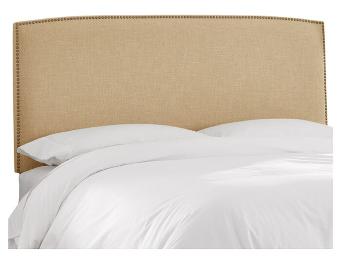Mara Linen Upholstered Headboard Size: Twin