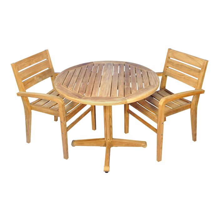 Savannah 3 Piece Teak Dining Set