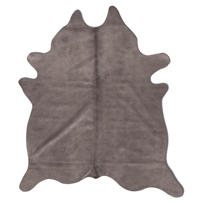 Geneva Cowhide 7' x 6' Rug in Grey
