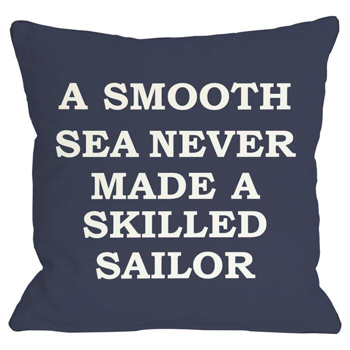 Smooth Sea Throw Pillow