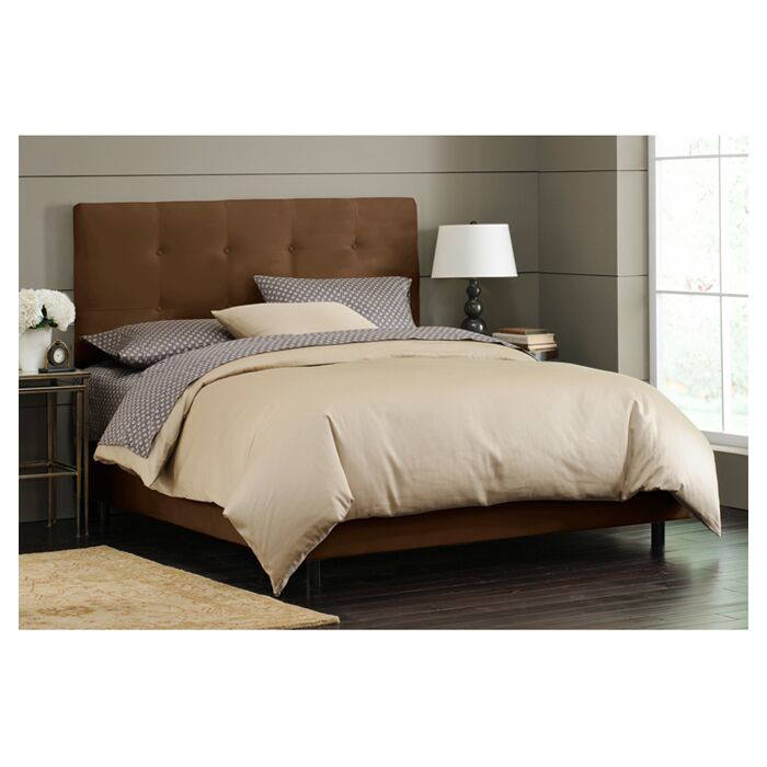 Parnell Tufted Upholstered Platform Bed Size: Twin, Color: Chocolate