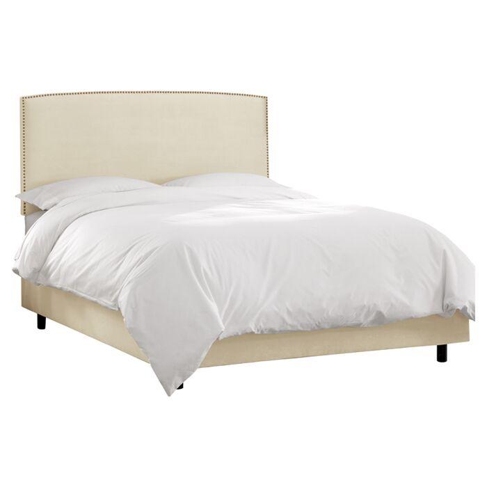 Mara Upholstered Platform Bed Size: Full, Color: Antique White
