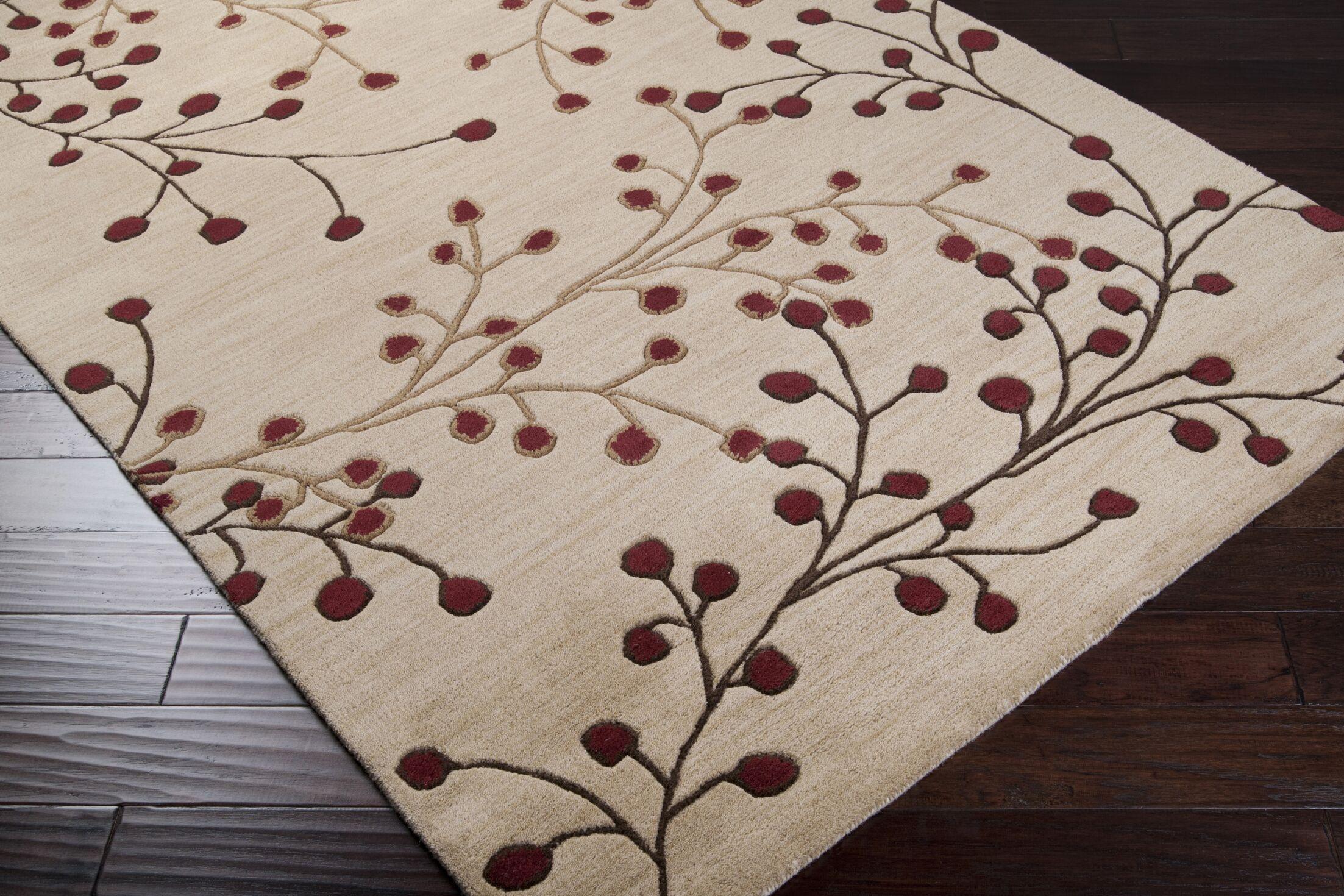Millwood Hand-Tufted Camel Area Rug Rug Size: Rectangle 4' x 6'