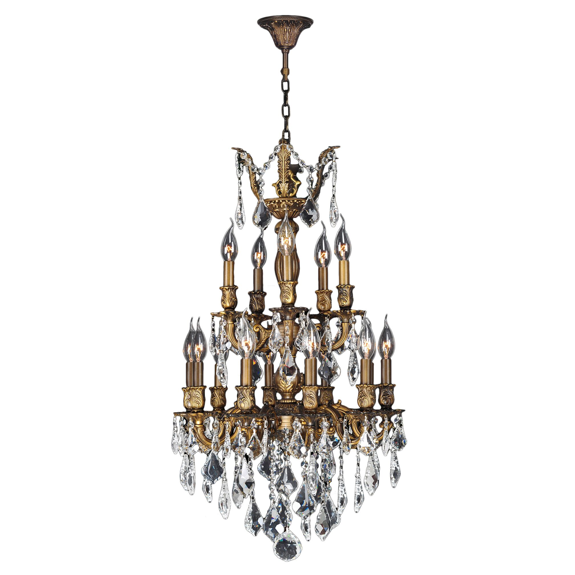 Dodson 15-Light Chain Candle Style Chandelier Size: 33