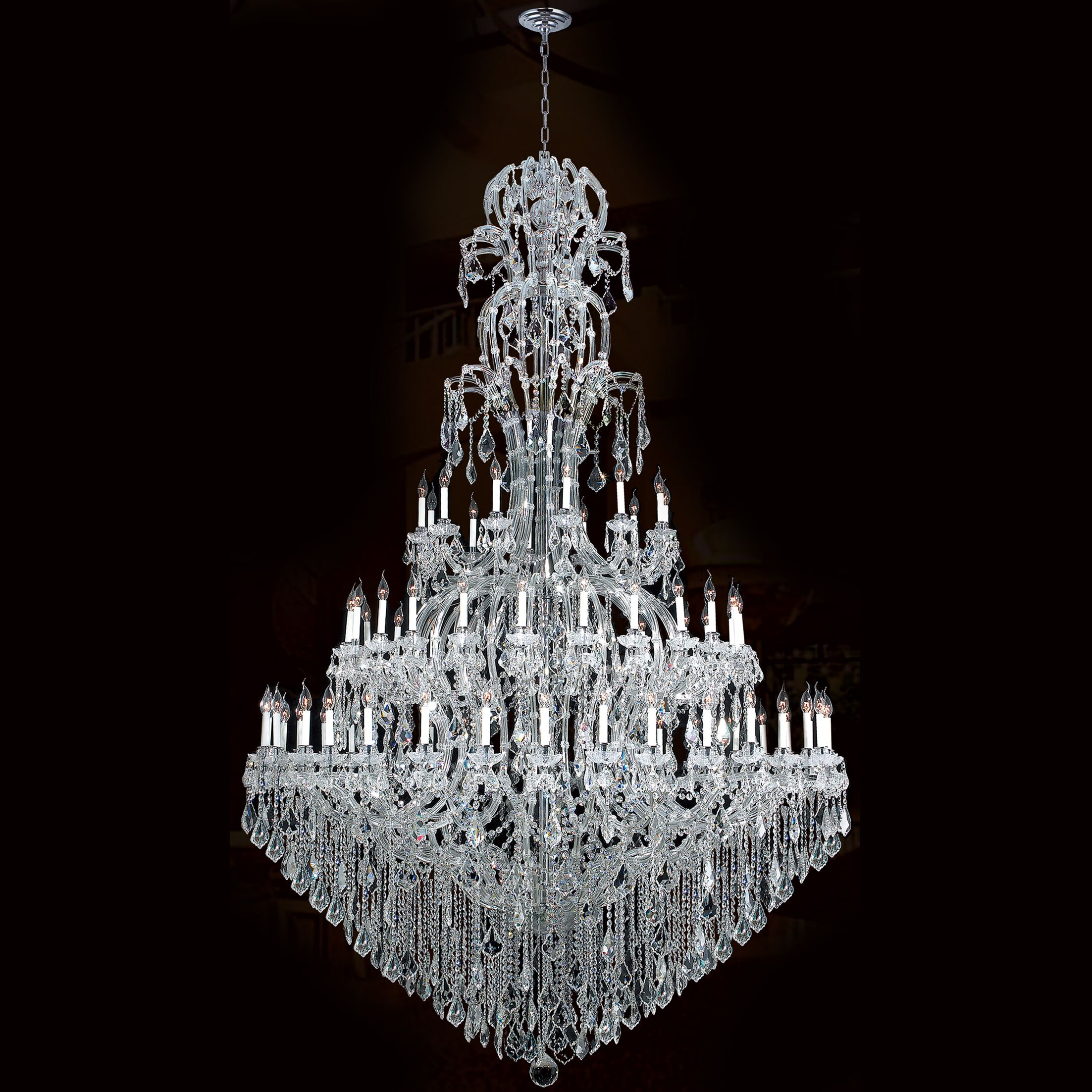Kiazolu 72-Light Candle Style Chandelier Color: Chrome