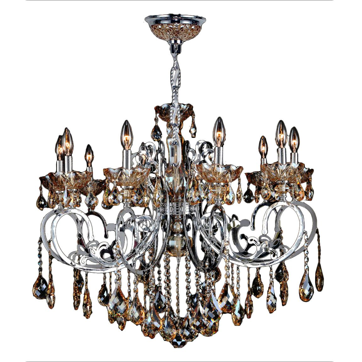 Koome 10-Light Candle Style Chandelier Crystal Color: Amber
