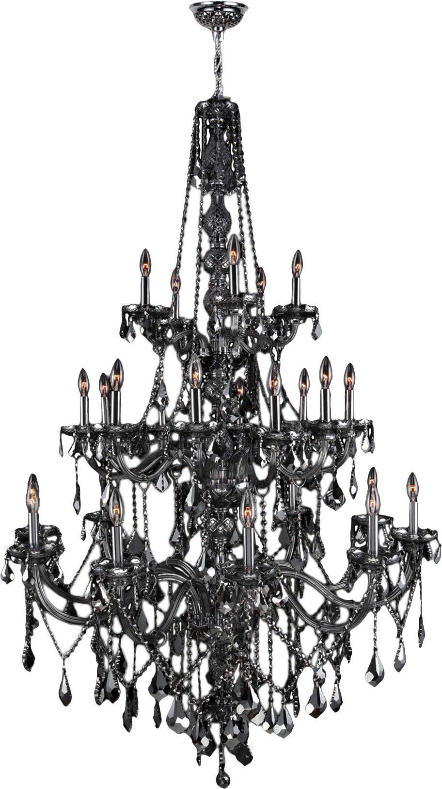 Doggett 25-Light Candle Style Chandelier Crystal Color: Smoke