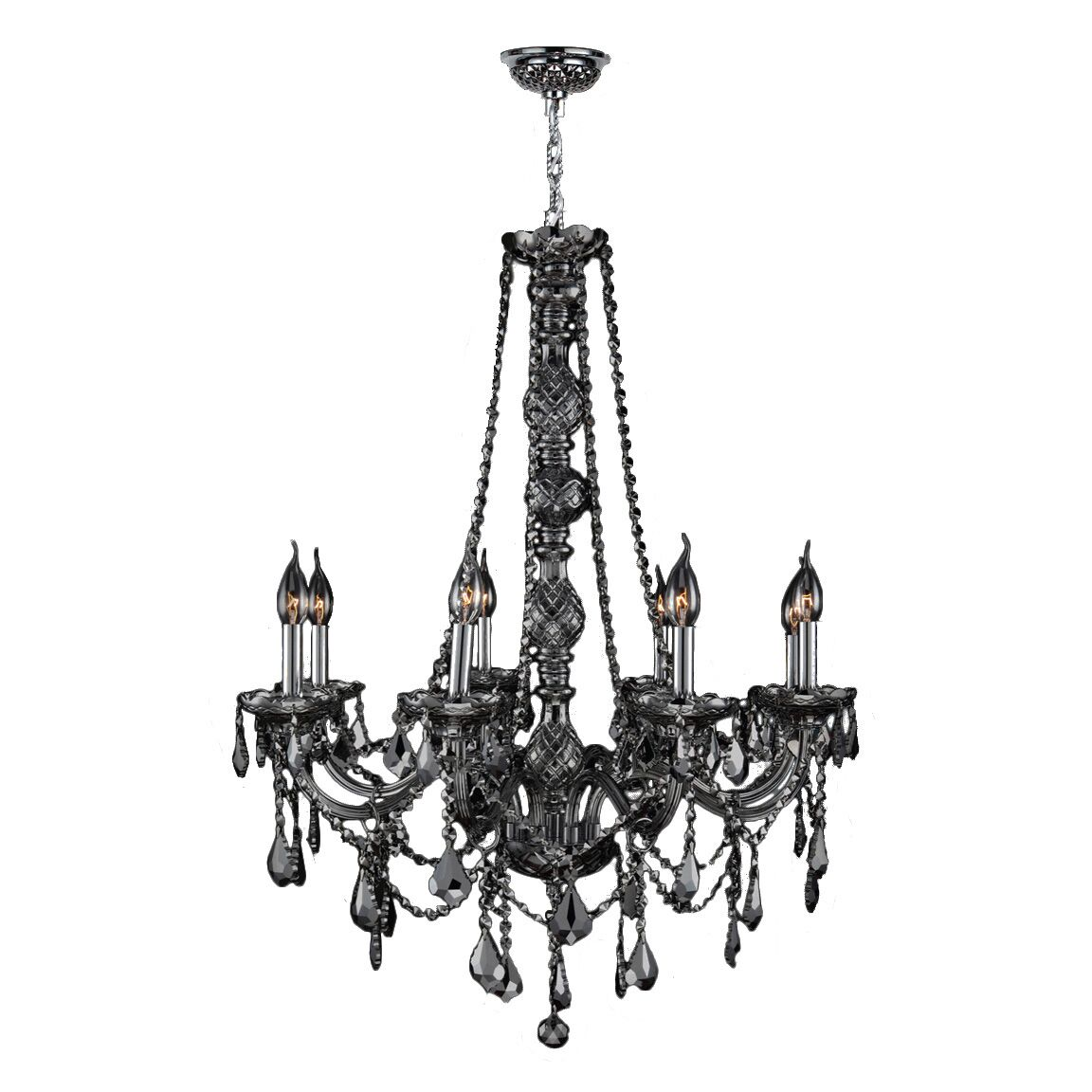 Doggett Traditional 8-Light Candle Style Chandelier Crystal Color: Smoke