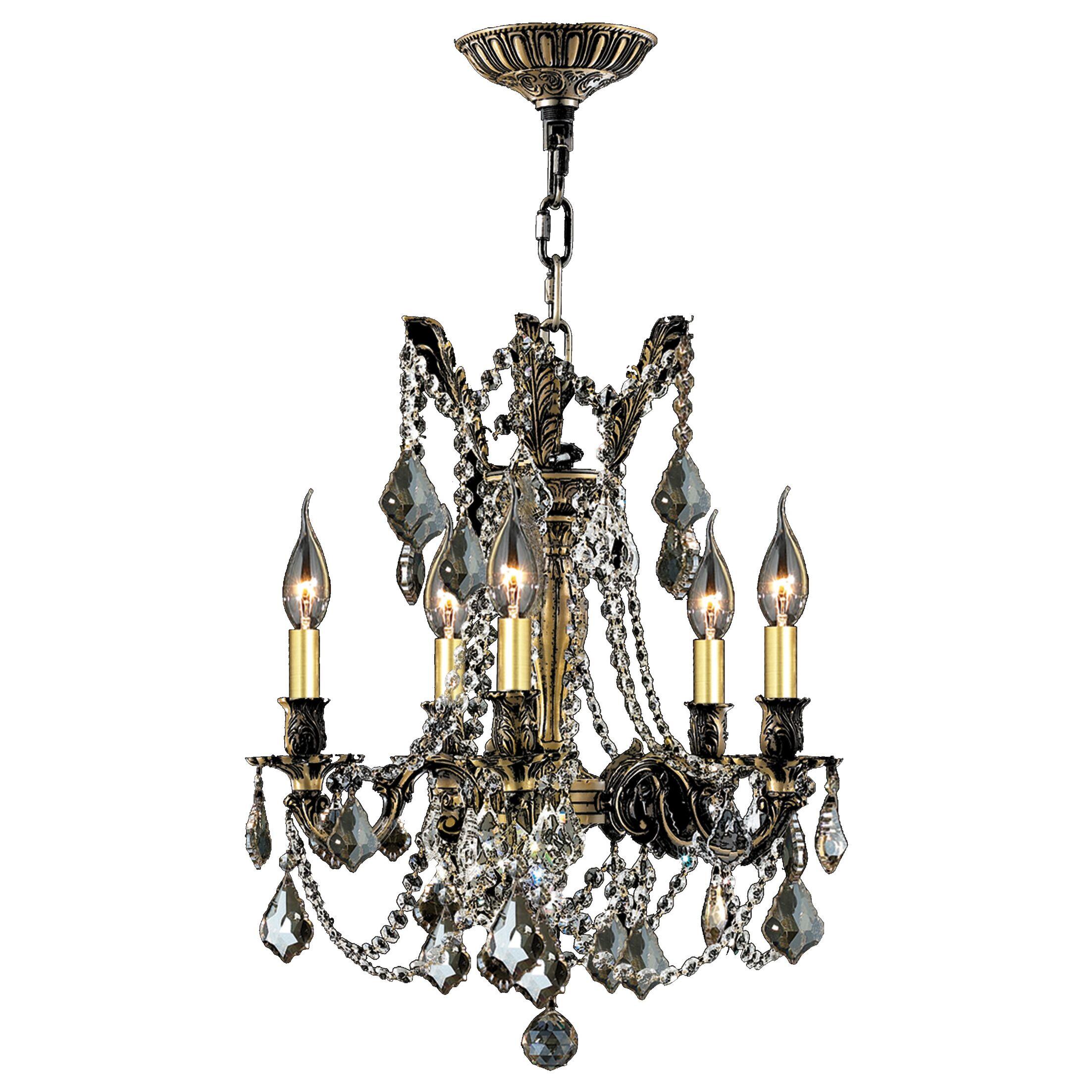 Radtke 5-Light Metal Candle Style Chandelier Crystal Color: Golden Teak