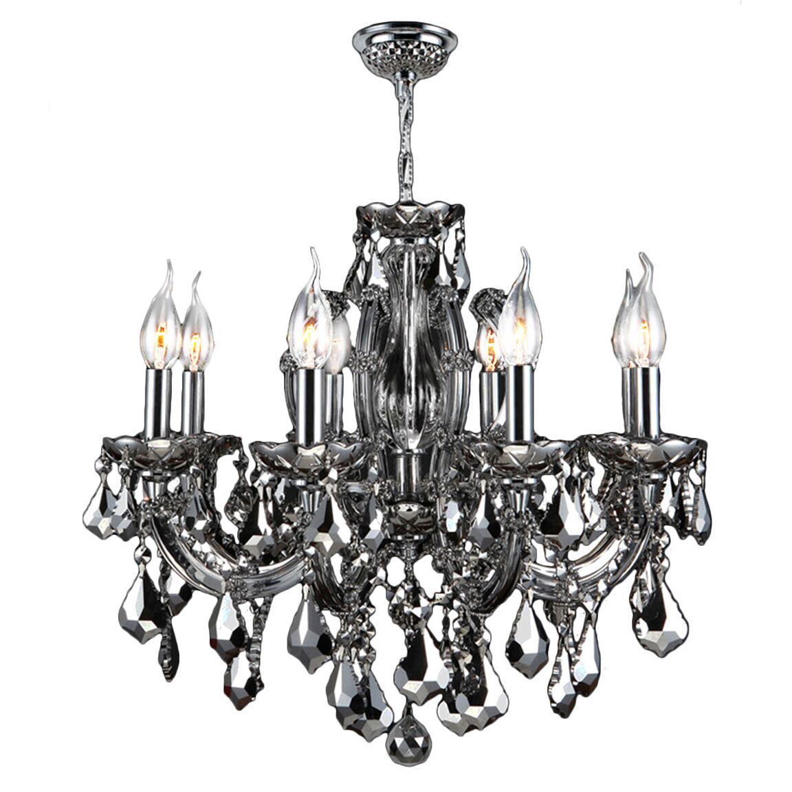 Roslyn 6-Light Candle Style Chandelier Crystal Color: Chrome