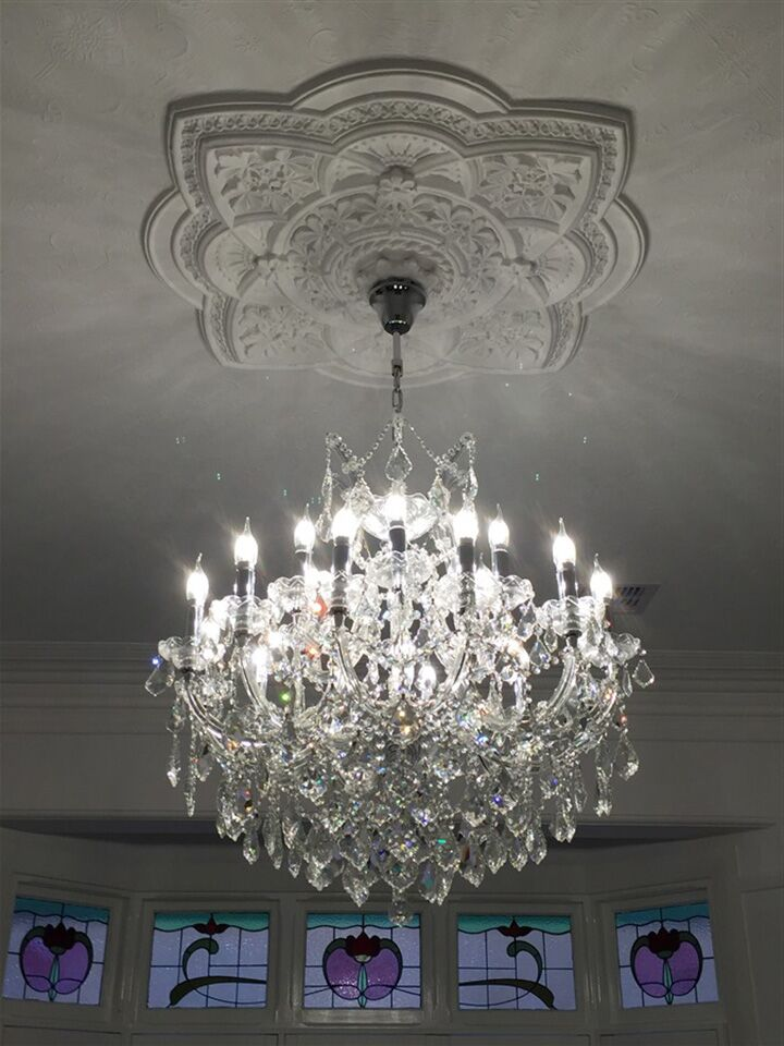 Kiazolu Glam 19-Light Candle Style Chandelier Color: Chrome