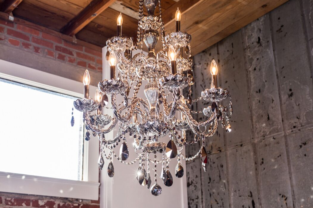Doggett Traditional 12-Light Candle Style Chandelier Crystal Color: Chrome