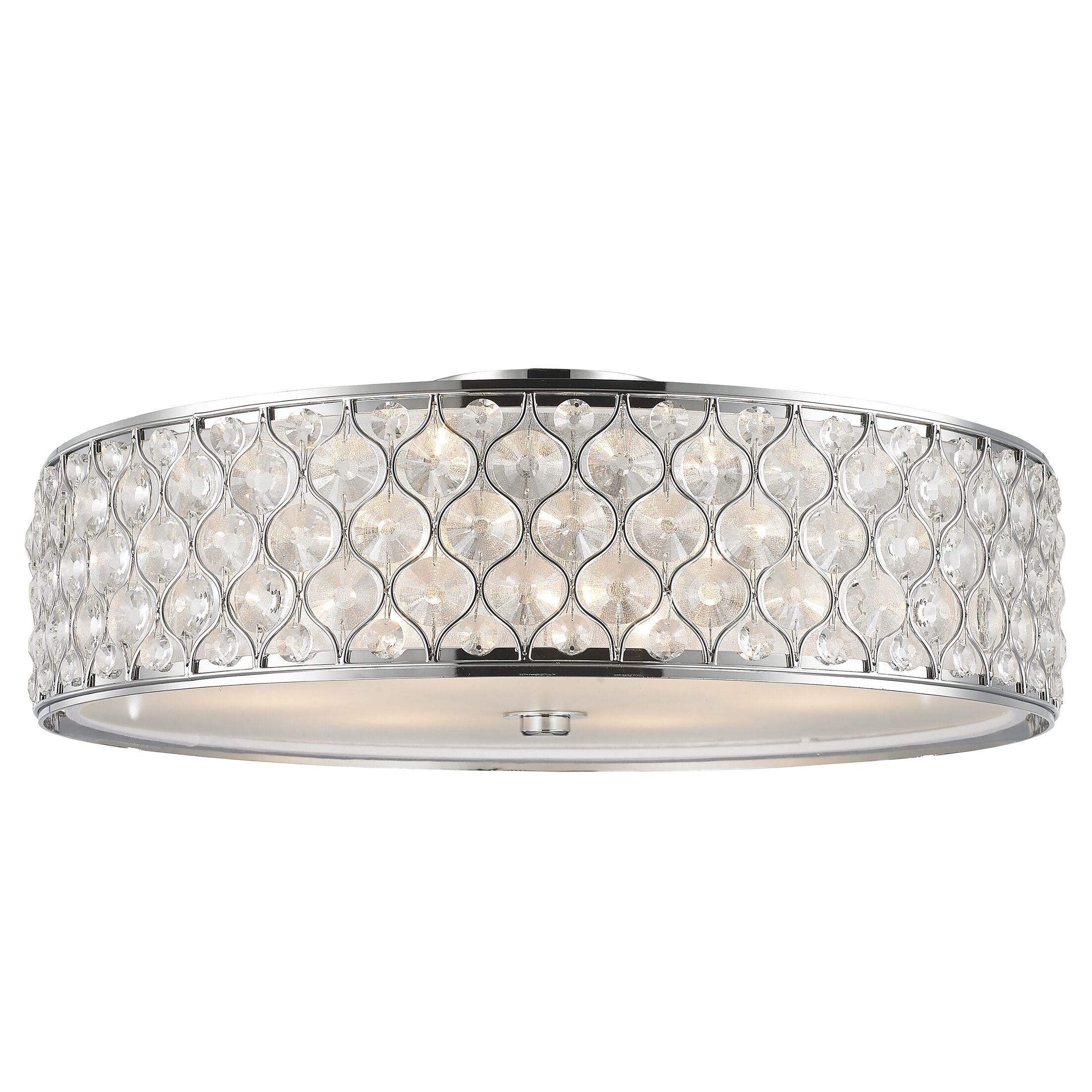 Adonis Crystal 6-Light Flush Mount Finish: Polished Chrome