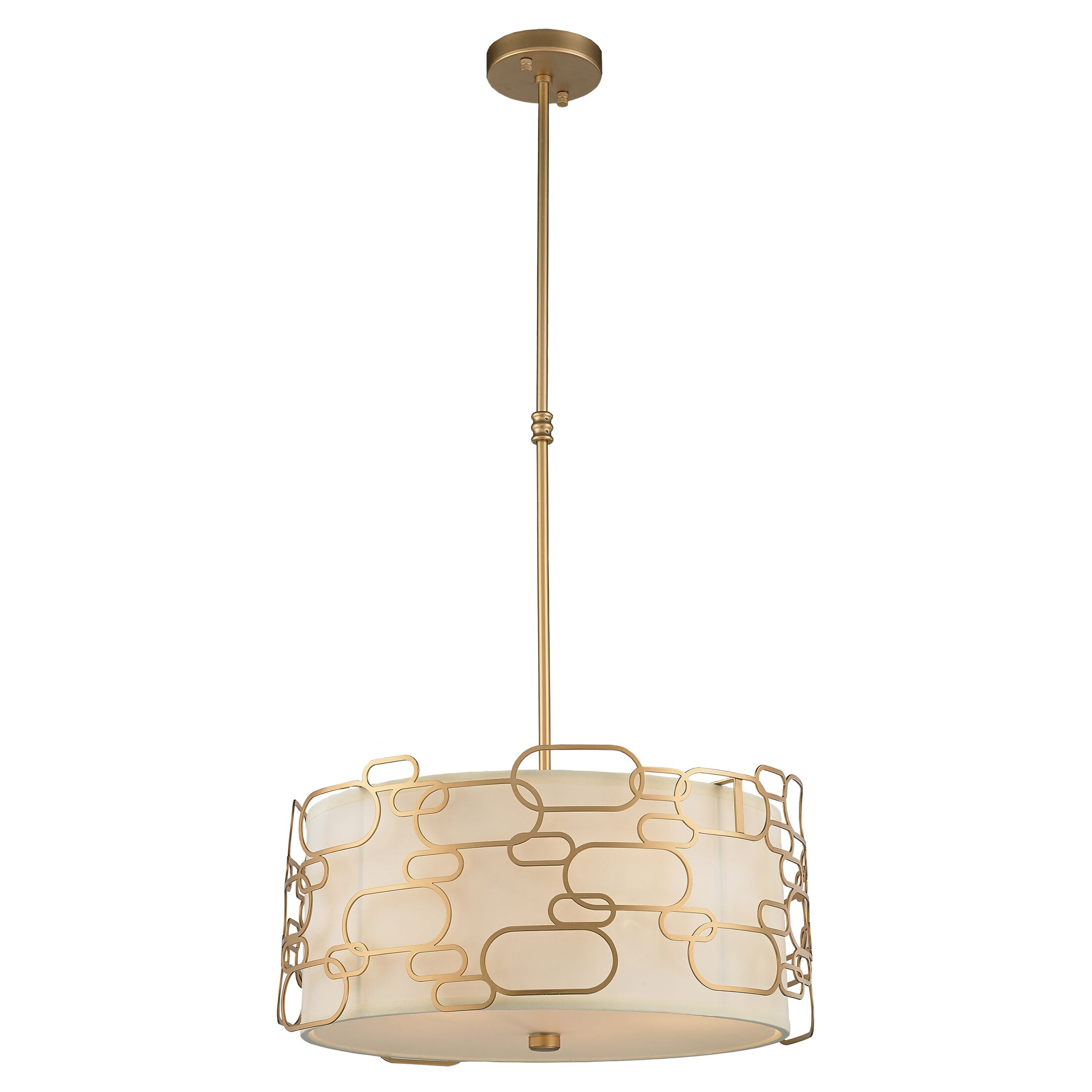 Lilianna Linen/Metal 5-Light Pendant Finish: Matte Gold