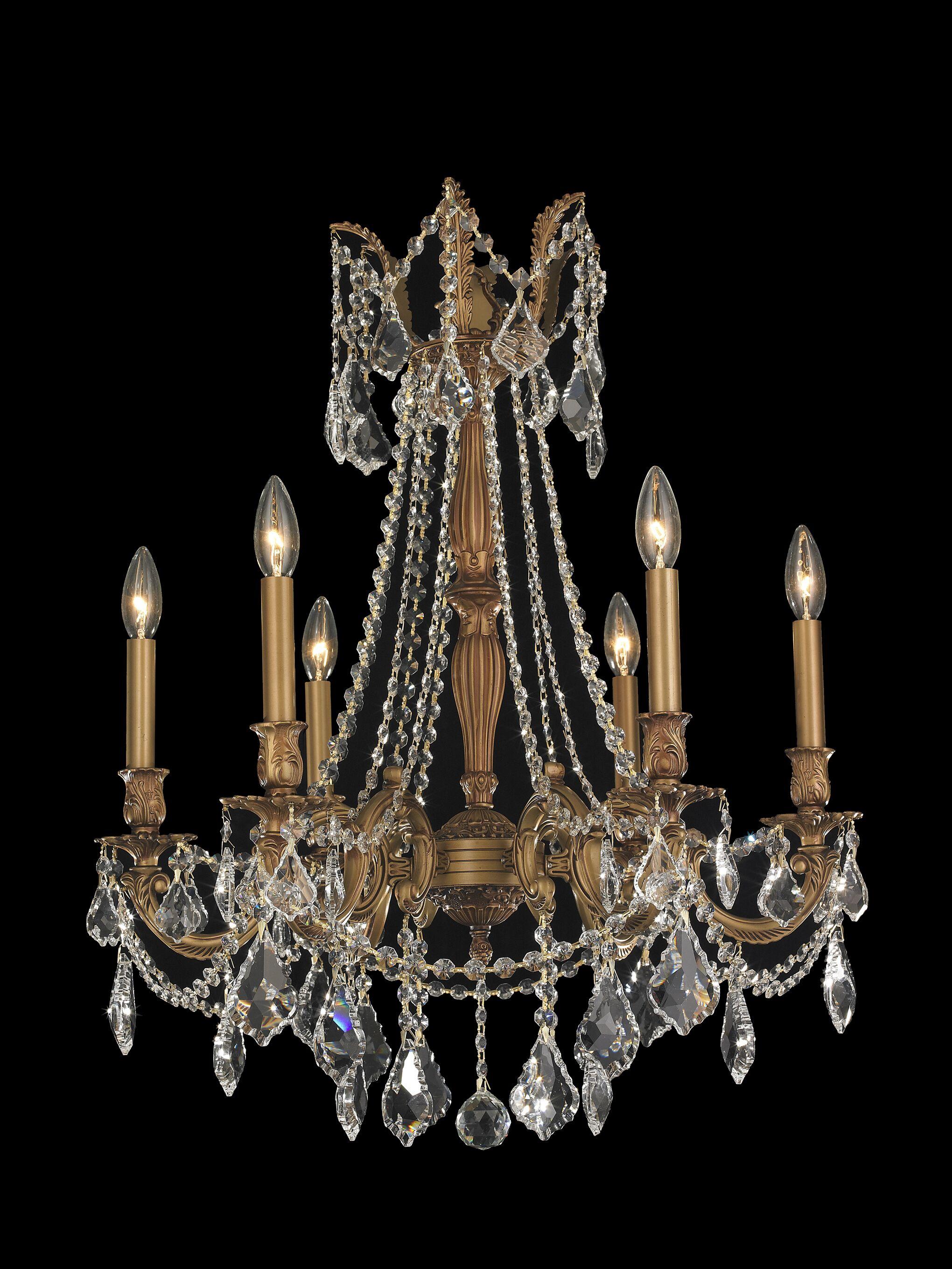 Radtke Traditional 6-Light Candle Style Chandelier