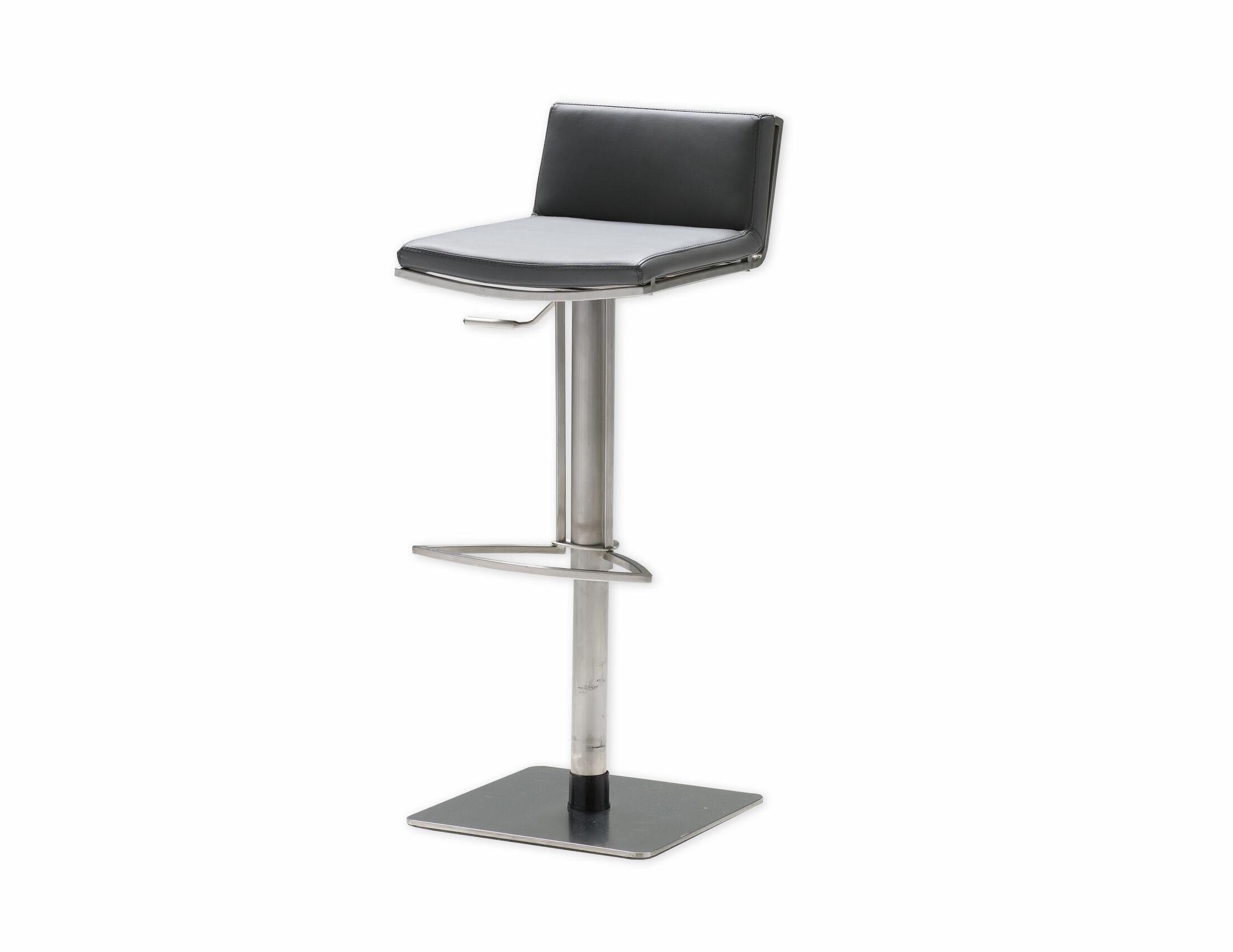 Bond Adjustable Height Swivel Bar Stool Seat: Grey