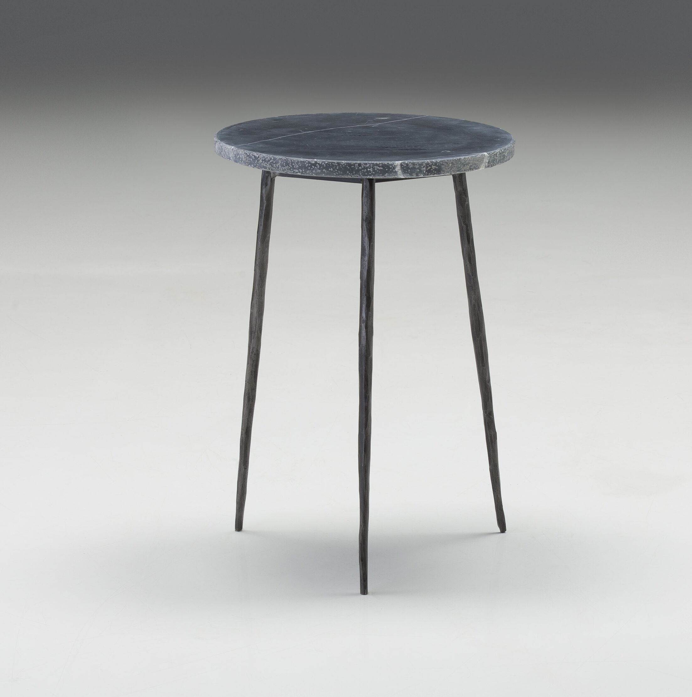 Atropos Tall End Table Top Color: Black Marble