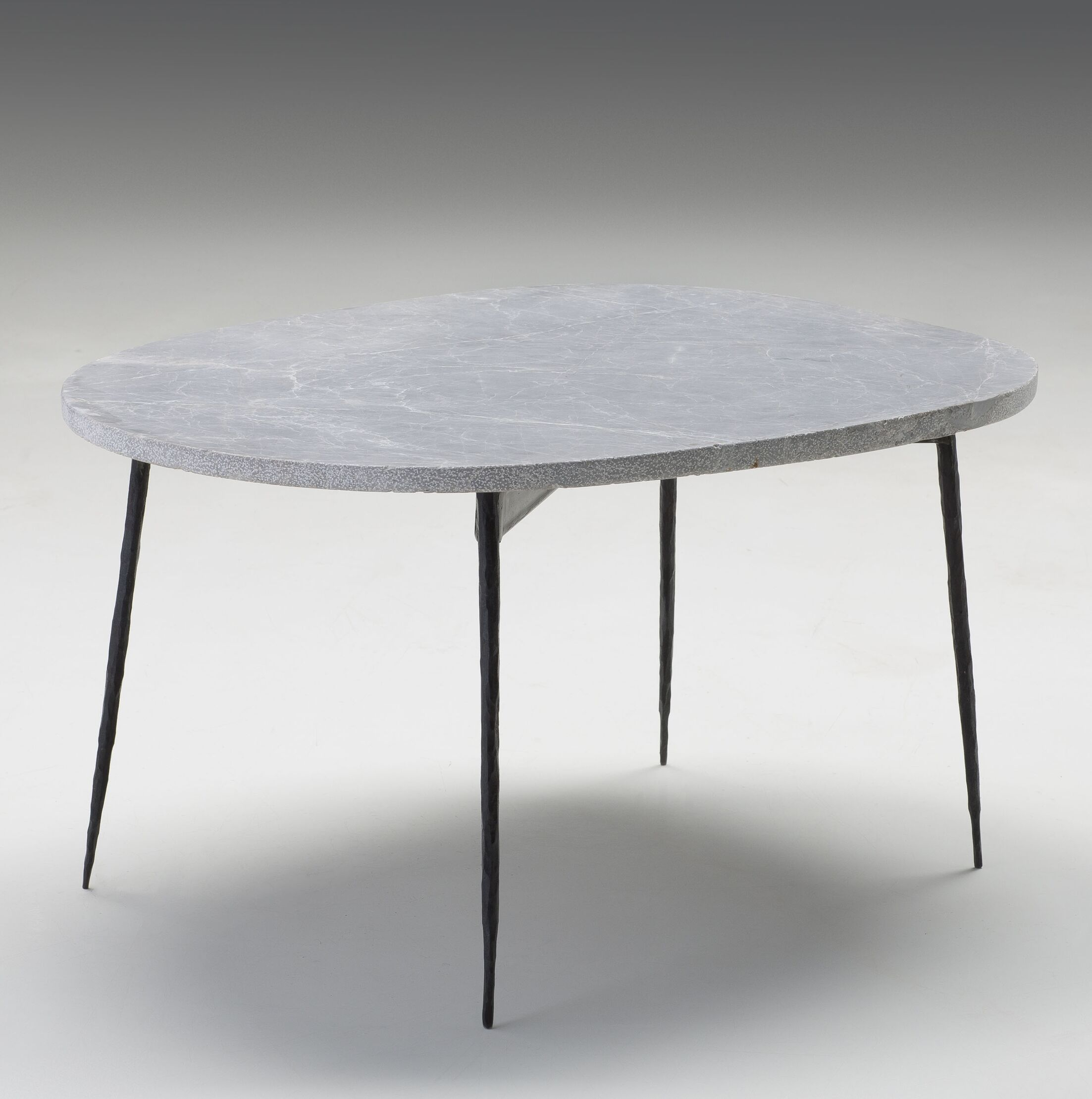 Athena Large Coffee Table Top Color: Gray Marble, Size: 16