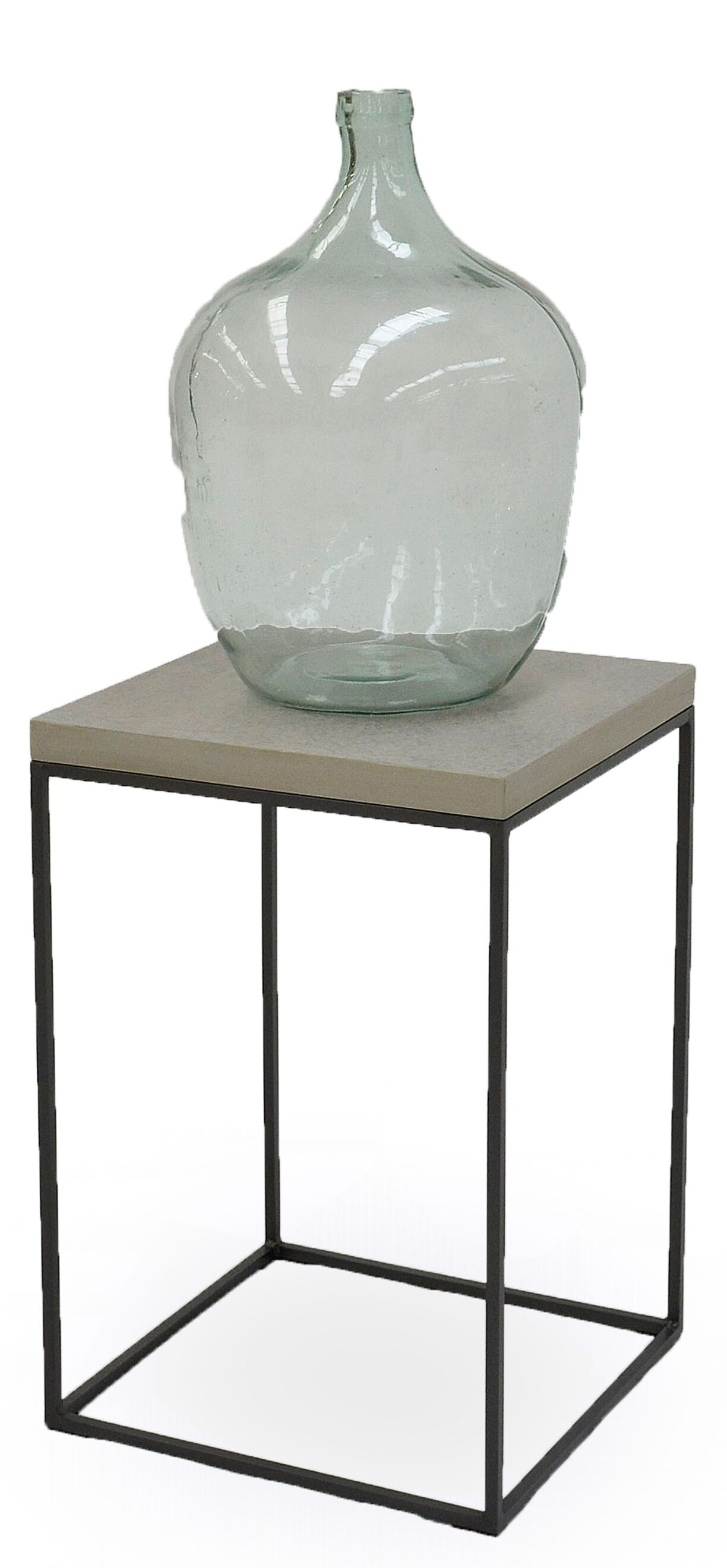 End Table with Concrete Board Top