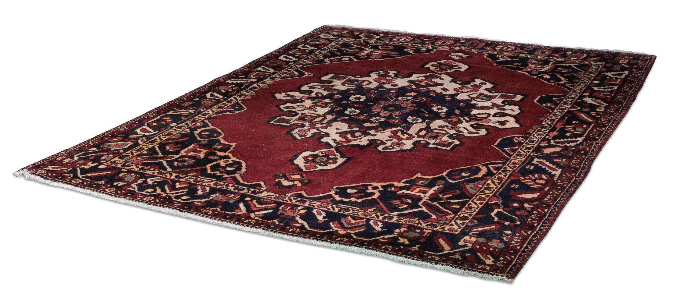 Persian Baktiak Hand Woven Red/Black Area Rug