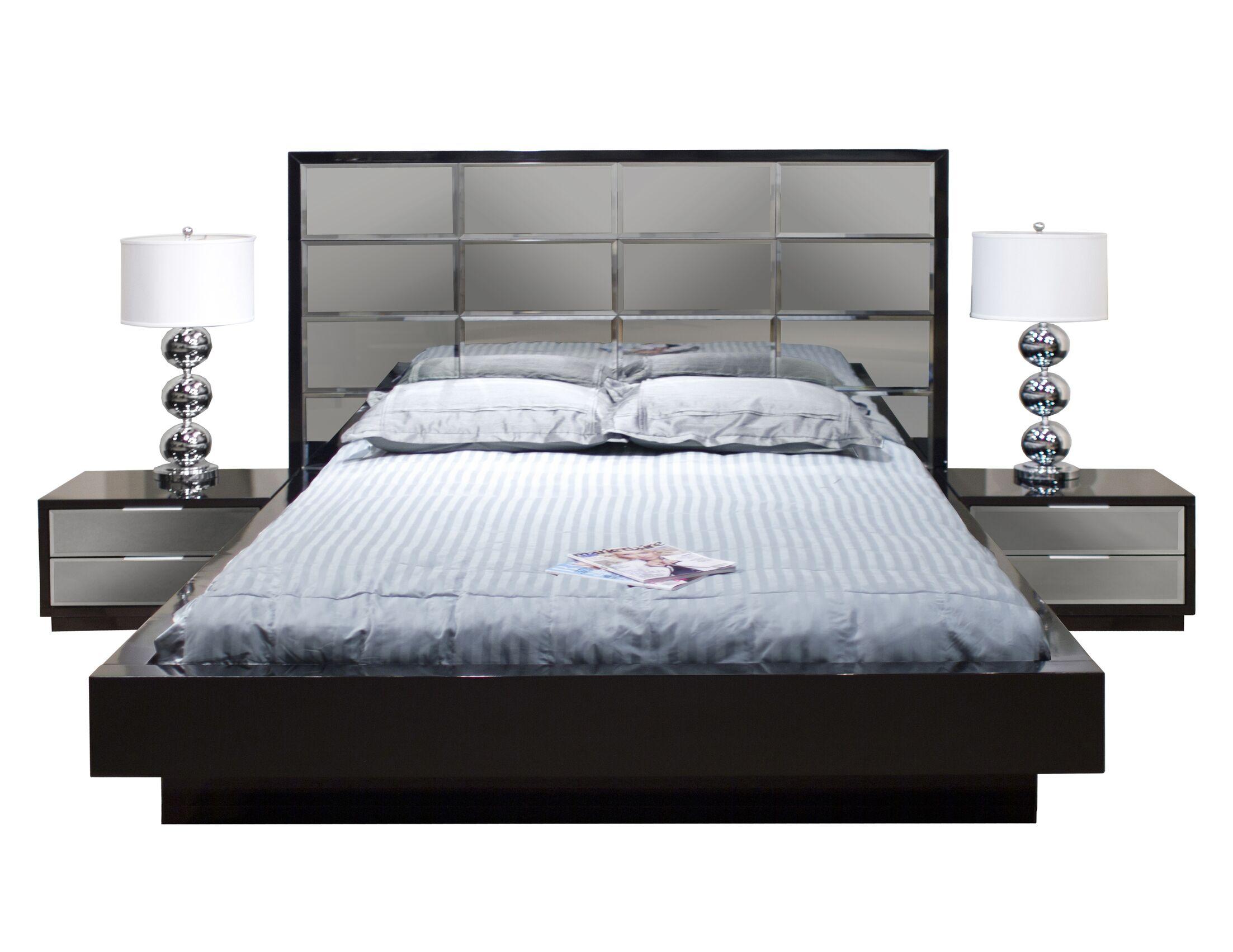 Mera Platform Bed Color: Black, Size: King