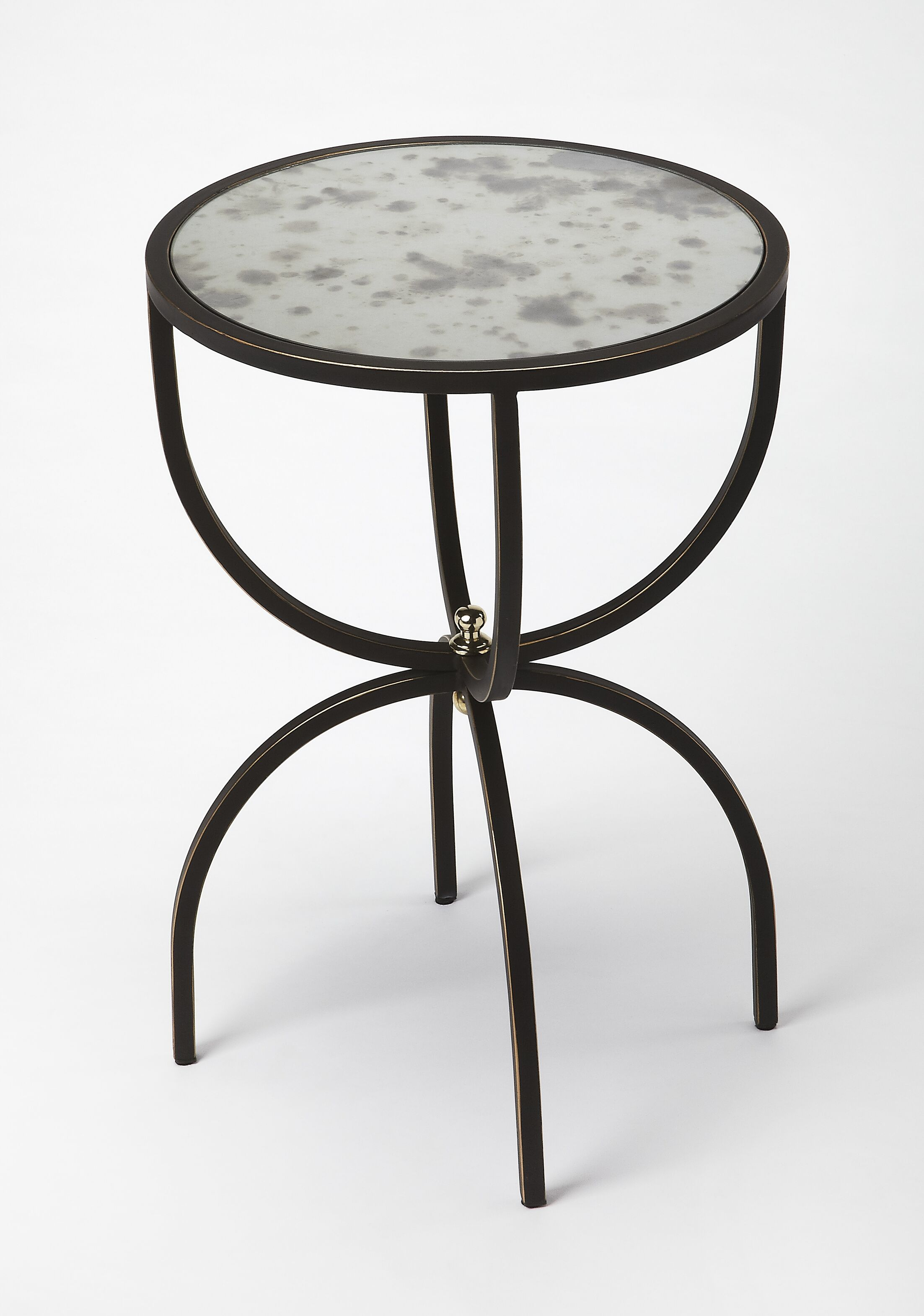 Taraska Metal and Mirror End Table