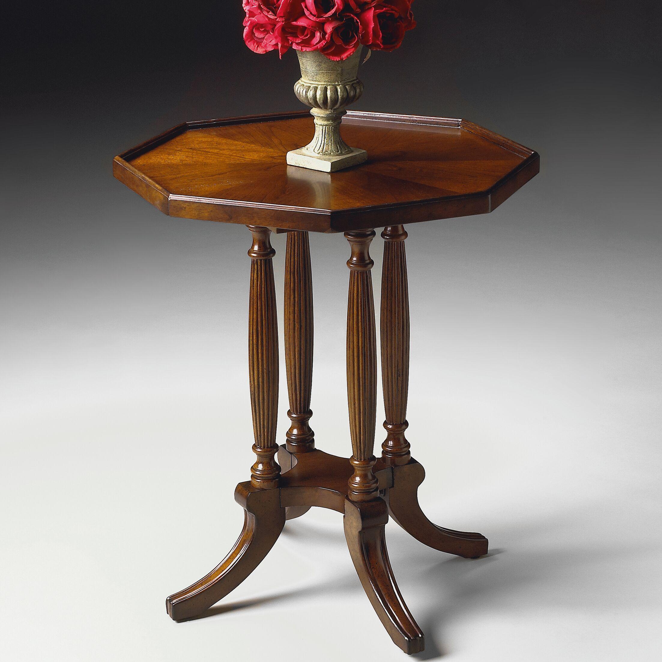Larocca Octagon End Table Color: Plantation Cherry