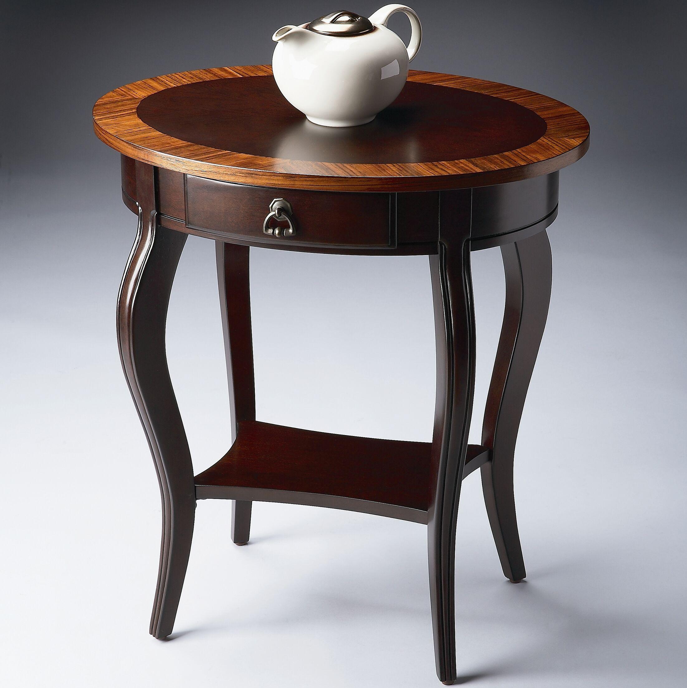 Gulielma 1 Drawer Oval End Table