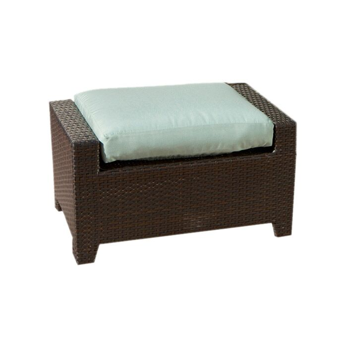 Northridge Ottoman with Cushion Fabric: Bliss Blue