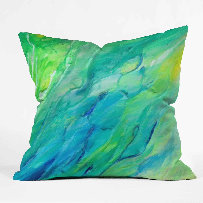 Rosie Brown The Sea Indoor/outdoor Throw Pillow Size: 18