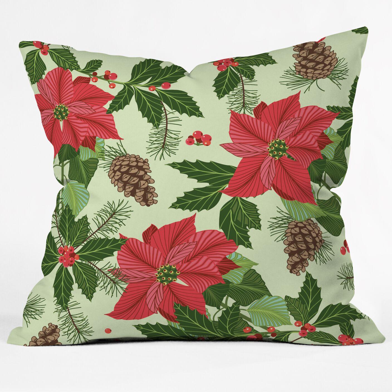 Sabine Reinhart Christmas Ballad Throw Pillow Size: Large