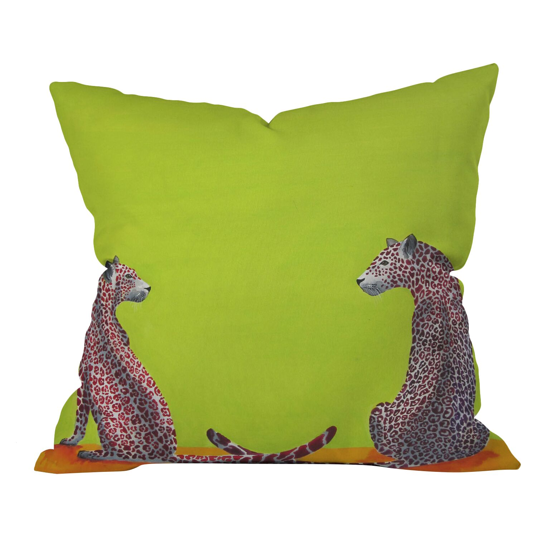 Clara Nilles Leopard Lovers Throw Pillow Size: 18