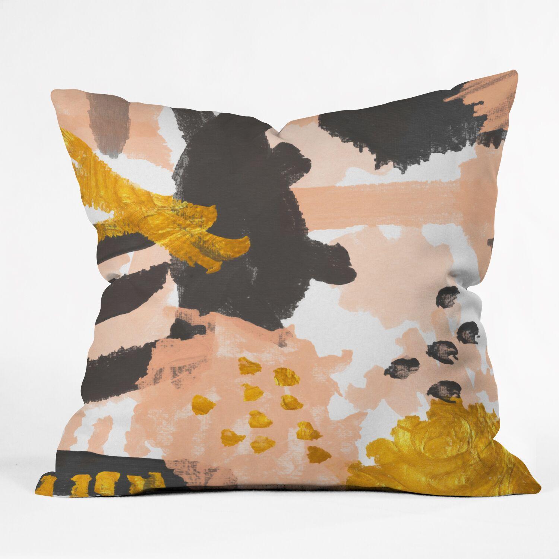 Indoor/Outdoor Throw Pillow Size: 18