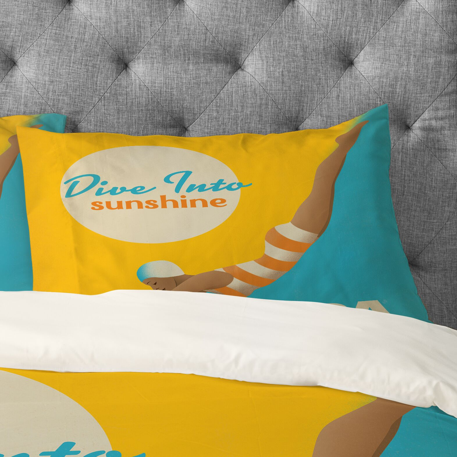 Anderson Design Group Dive Florida Pillowcase Size: King