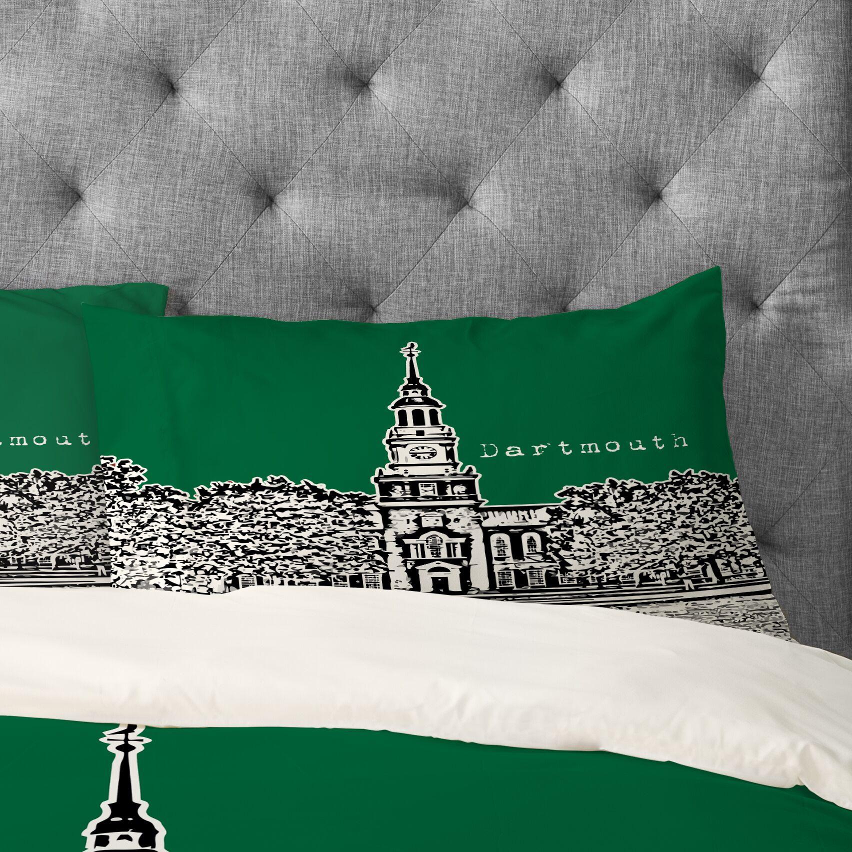 Bird Ave Dartmouth College Pillowcase Size: Standard